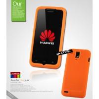 Силиконовый чехол премиум для Huawei Ascend D1 Оранжевый