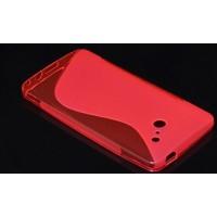 Силиконовый чехол S полупрозрачный для Huawei Ascend D2 Красный