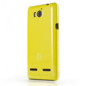 Пластиковый чехол оригинальный для Huawei Honor 2 Желтый