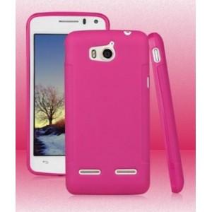 Силиконовый чехол для Huawei Honor 2 Розовый