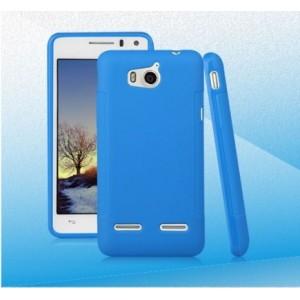 Силиконовый чехол для Huawei Honor 2 Голубой