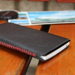 Кожаный мешок для Huawei Ascend Mate Черный
