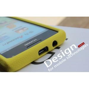 Силиконовый чехол премиум для Huawei Ascend P1 Желтый