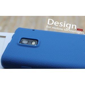 Силиконовый чехол премиум для Huawei Ascend P1 Голубой