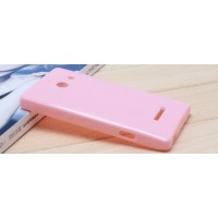 Силиконовый чехол для Huawei Ascend W1 Розовый