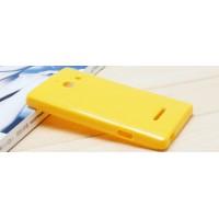 Силиконовый чехол для Huawei Ascend W1 Желтый
