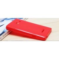 Силиконовый чехол для Huawei Ascend W1 Красный