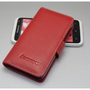 Кожаный чехол портмоне (нат. кожа) для Lenovo Ideaphone P770