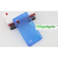 Чехол силиконовый для LG Optimus L9 P765 Синий
