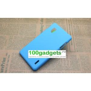 Чехол пластиковый для LG Optimus G E973 Голубой