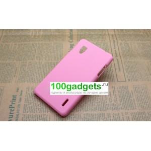 Чехол пластиковый для LG Optimus G E973 Розовый