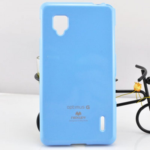 Чехол силиконовый для LG Optimus G E973 Голубой