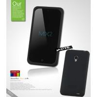 Силиконовый чехол премиум для Meizu MX2 Черный