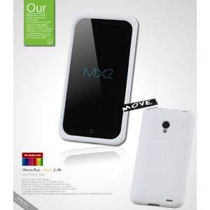 Силиконовый чехол премиум для Meizu MX2 Белый