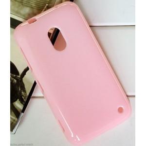 Силиконовый чехол для Nokia Lumia 620 Розовый