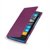 Чехол для Nokia Lumia 920 кожаный (нат. кожа) книжка горизонтальная Фиолетовый