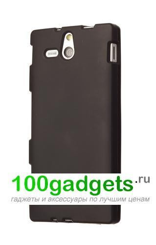Чехол силиконовый для Sony Xperia U Черный