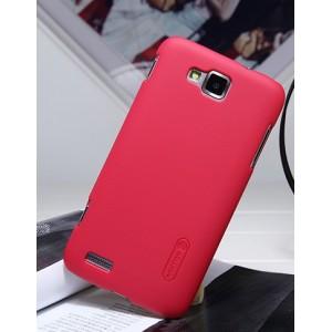 Пластиковый чехол матовый для Samsung Ativ S i8750 Красный