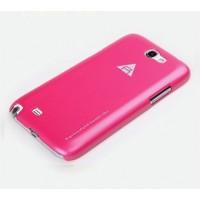 Чехол пластиковый для Samsung Galaxy Note 2 Розовый