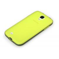Силиконовый чехол 2 в 1 (чехол+ бампер) для Samsung Galaxy S4 Желтый