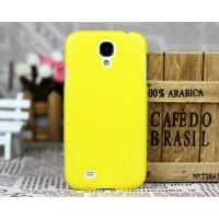 Пластиковый чехол ультратонкий премиум для Samsung Galaxy S4 Желтый