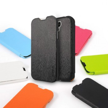 Чехол кожа/пластик текстурный дерево для Galaxy S4