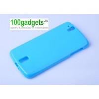 Силиконовый чехол для Sharp Aquos Phone Sh837W Голубой