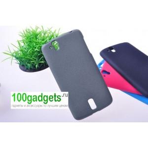 Силиконовый чехол матовый для Sharp Aquos Phone Sh837W Серый
