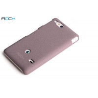 Чехол пластиковый матовый для Sony Xperia go Пурпурный