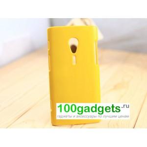 Чехол пластиковый для Sony Xperia ion Желтый