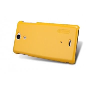 Чехол пластиковый премиум для Sony Xperia V Желтый