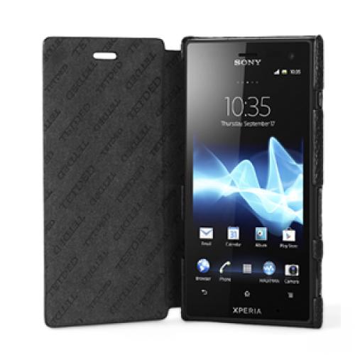 Чехол кожаный книжка горизонтальная (нат. кожа) для Sony Xperia acro S