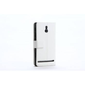 Чехол кожаный книжка горизонтальная для Sony Xperia P Белый