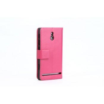 Чехол кожаный книжка горизонтальная для Sony Xperia P