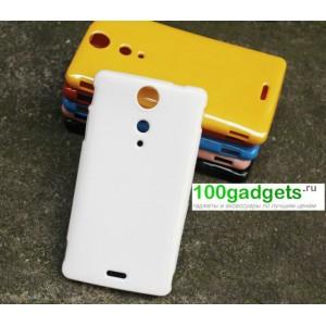 Силиконовый глянцевый непрозрачный чехол для Sony Xperia TX
