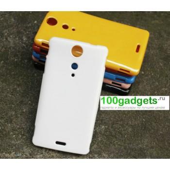 Силиконовый матовый непрозрачный чехол для Sony Xperia TX