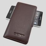 Чехол кожаный книжка горизонтальная (нат. кожа) для Sony Xperia TX