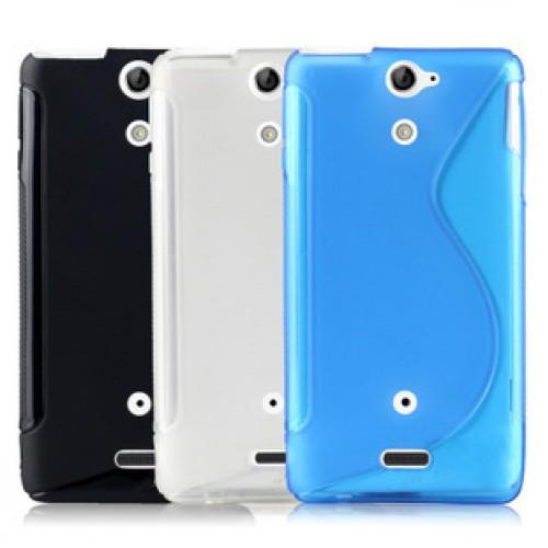 Чехол силиконовый для Sony Xperia V Синий