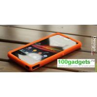 Силиконовый софт-тач премиум чехол для Sony Xperia Z Оранжевый