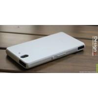Силиконовый софт-тач премиум чехол для Sony Xperia Z Белый