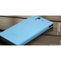 Силиконовый софт-тач премиум чехол для Sony Xperia Z Голубой