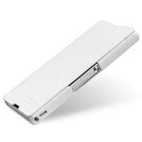 Кожаный чехол горизонтальная книжка (нат. кожа) для Sony Xperia Z Белый