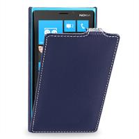 Чехол для Nokia Lumia 920 кожаный (нат. кожа) книжка вертикальная Синий
