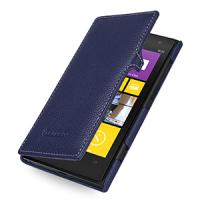 Кожаный чехол книжка горизонтальная (нат. кожа) для Nokia Lumia 1020 Синий