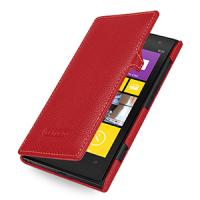Кожаный чехол книжка горизонтальная (нат. кожа) для Nokia Lumia 1020 Красный