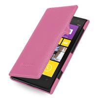 Кожаный чехол книжка горизонтальная (нат. кожа) для Nokia Lumia 1020 Розовый