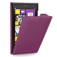 Кожаный чехол книжка вертикальная (нат. кожа) для Nokia Lumia 1020 Фиолетовый