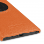 Кожаный чехол-накладка Back Cover (нат. кожа) для Nokia Lumia 1020 оранжевая