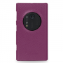 Кожаный чехол-накладка Back Cover (нат. кожа) для Nokia Lumia 1020 фиолетовая