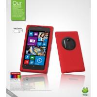 Силиконовый чехол премиум для Nokia Lumia 1020 Красный